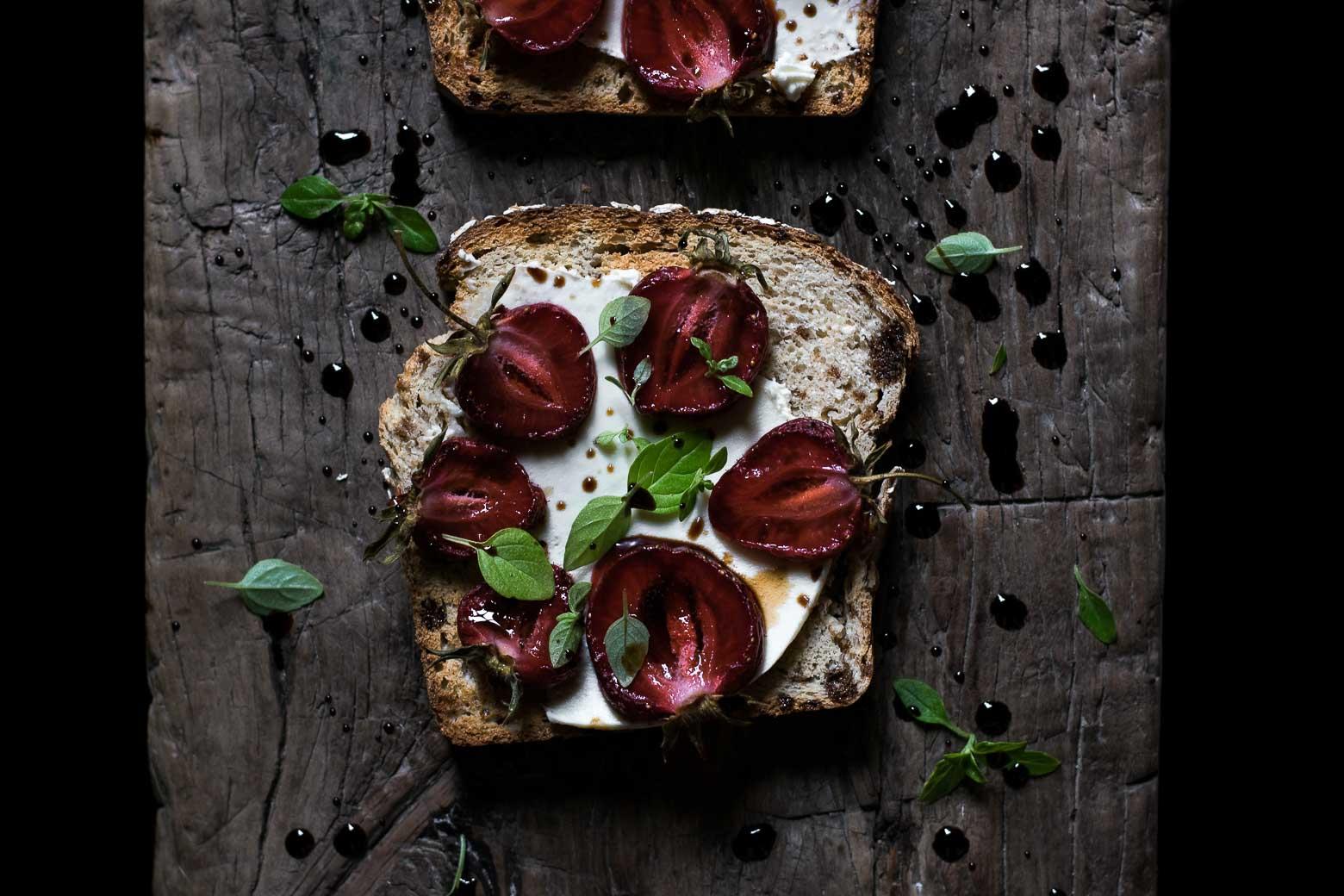 Toast med jordbær og balsamico · 5