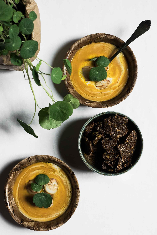 Hokkaidosuppe med mascarpone og kammuslinger · 7