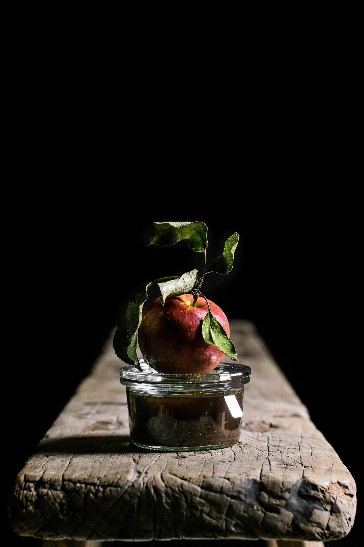 Muffins med æble og karamel · 1