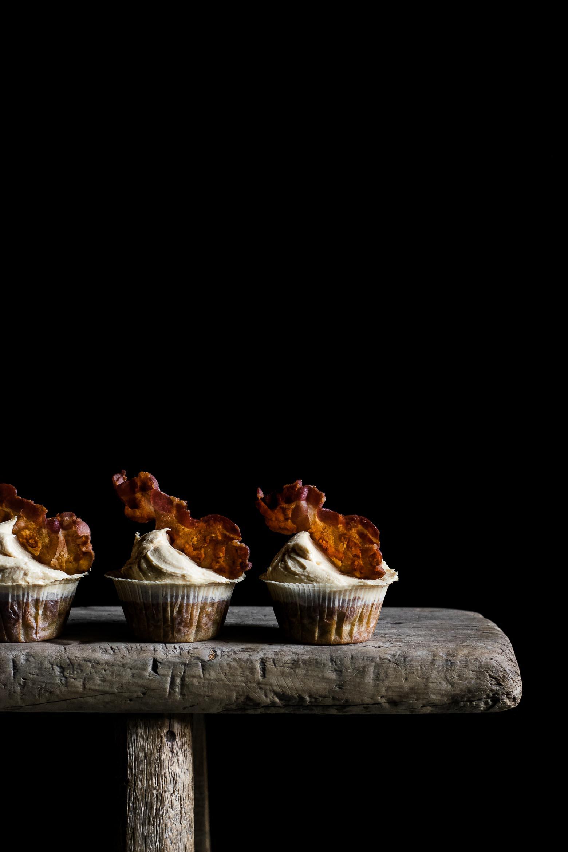 Banan, peanutbutter og bacon muffins · 9
