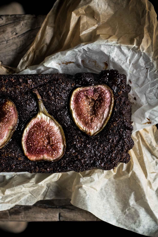 Brownie med figner og balsamico · 1
