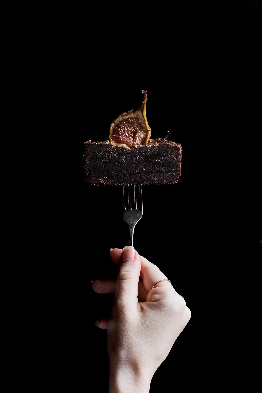 Brownie med figner og balsamico · 2