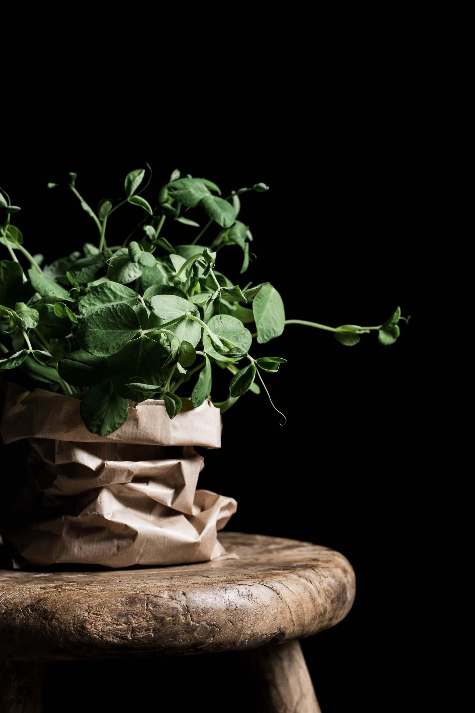 Rugchips med nye kartofler og skimmelost · 9