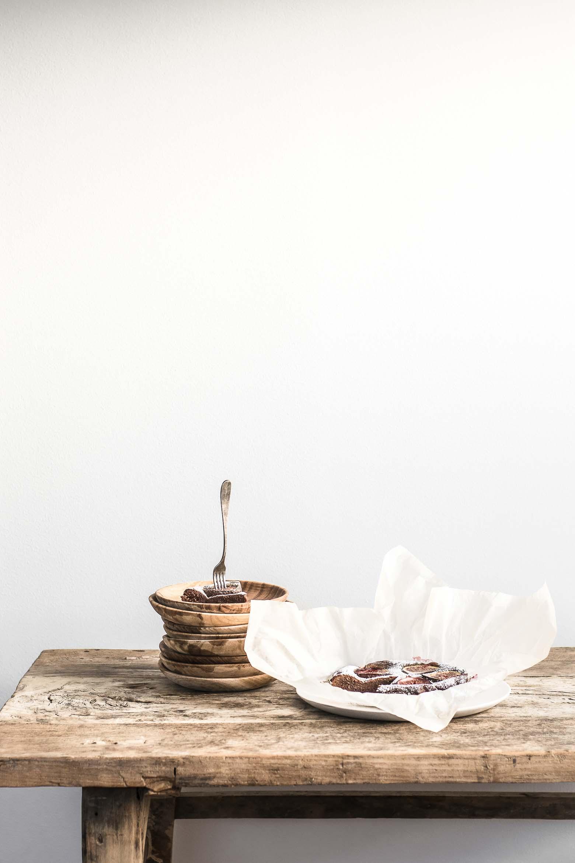 Balsamico brownie med vanilje og figner · 4