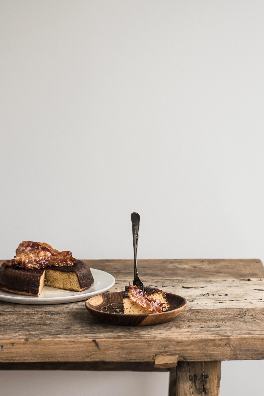 Sprød pandekage med bacon og honning · 2