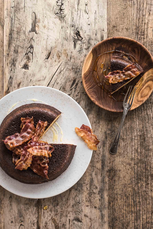 Sprød pandekage med bacon og honning · 5