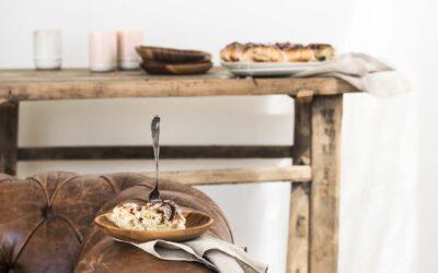 Pistaciesnegle med rosenglasur